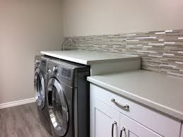 Classic peel and stick backsplash in the laundry room
