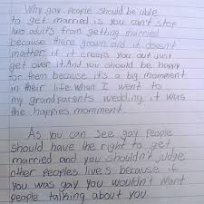fourth grade student writes awesome essay defending gay marriage