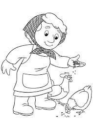 Small Picture Marie Gogiens Feed Chicken in Postman Pat Coloring Pages Bulk Color