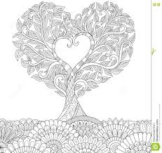 love tree stock vector ilration of carpet coloring 78659813