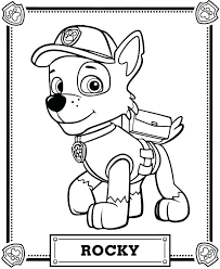 Paw Patrol Printable Coloring Pages Rubble Paw Patrol Coloring Page
