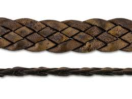 leather cord usa 11mm natural reddish brown flat braided leather by the foot