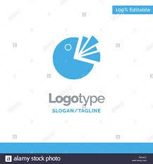 Pie Chart Presentation Diagram Blue Solid Logo Template