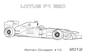 Small Picture Modern F1 Cars Car Coloring Pages