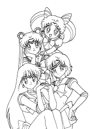 Sailor Moon Friends Coloring Pages For