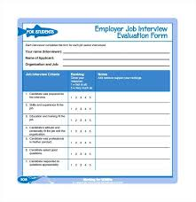 Interview Evaluation Form Download Free Documents In Word Employee ...