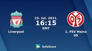 Liverpool vs 1. FSV Mainz 05 live score, H2H and lineups