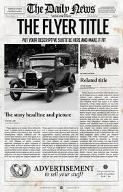 Newspaper Template For Microsoft Works 1 Page Newspaper Template Adobe Photoshop 11x17 Inch