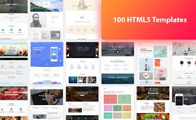 tamplate 100 html5 free template bundle offer from themewagon