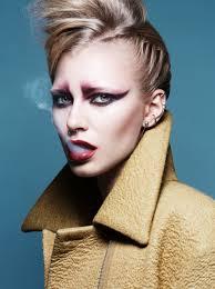 neo punk make up high fashion makeuphigh fashion haircorporate fashionsmoky eye80s