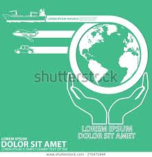 Chart Showing Transit On Earth Top Stock Vector Royalty