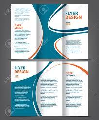 2 Folded Brochure Template Vector Tri Fold Brochure Template Design Concept Business Leaflet