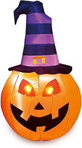 Joiedomi Halloween 5 FT Inflatable Pumpkin Witch ... - Amazon.com