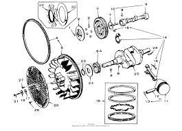 61 20ks01 d 200 automatic tractor 1976 crankshaft flywheel camshaft and piston group 16 hp onan engine ⎙ print diagram