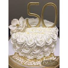 50th Birthday Celebration Cake For Mom Elegant And Classy With