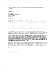 Proposal Samples For Business Date On Business Letter