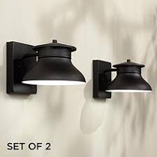 cheap outdoor lighting fixtures. Set Of 2 Danbury LED Black 5\ Cheap Outdoor Lighting Fixtures