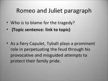 why is romeo and juliet a tragedy essay thesis paper why is romeo and juliet a tragedy essay