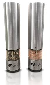 Amazon.com: #1 Automatic Salt and Pepper Grinder Set: Best Electric Pepper  Mill and Salt Grinder on the Market By Noella with LED Light, Quality  Stainless ...