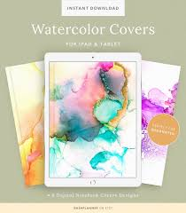 6 Watercolor Digital Notebook Covers For Goodnotes Customizable Cover For Notes Planner Or Agenda Journal Accessories Ipad Cover