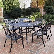 patio dining: home styles biscayne  piece black aluminum patio dining set