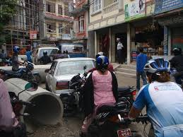 kathmandu traffic jam climbing canyoning hiking what kathmandu traffic jam