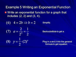 example 5 writing an exponential function