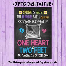 spring baby announcements spring pregnancy announcements spring ultrasound pregnancy