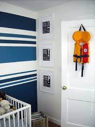 Blue U0026 White Striped Walls.