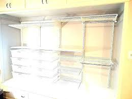 wire shelf brackets track system awesome kit shelving adjule wall closet maid 4 closetmaid shelftrack bracket