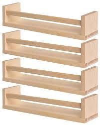 IKEA 4 Wooden Spice Rack - Nursery - Book Holder - Kids Shelf - Kitchen -  Bathroom Accessory - Storage Organizer - Birch Natural Wood - BEKVAM: ...