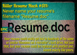 Another Name For Resume Killer Resume Hack 011 Never Name Your Resumes Filename