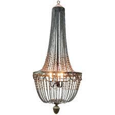 wood bead chandelier elena