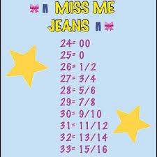 Miss Me Jeans Plus Size Chart Miss Me Jeans Size Chart Conversion