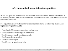 infection control nurse interview questions In this file, you can ref  interview materials for infection ...