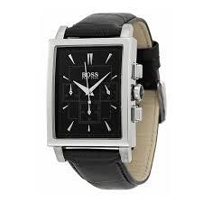 hugo boss watch 1512849 black leather rectangular dial hugo boss watch 1512849 black leather rectangular dial chronograph men watch