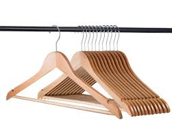 home it 24 pack natural wood hangers