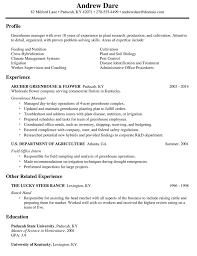 Shipping And Receiving Resume Amazing Greenhouse Manager