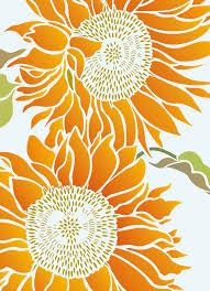 Sunflower Stencil Designs Large Botanical Flower Stencil 1 Sheet Stencil Let The