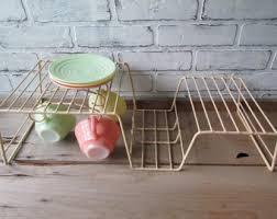 Plastic Coated Wire Racks Vintage dish rack Etsy 58