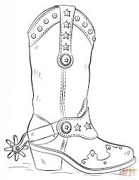 Cowboy Boot Coloring Page Coloring Home