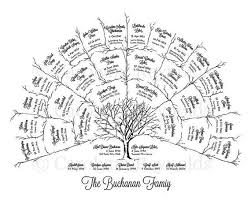 Ancestor Genealogy Family Tree Fan Chart 4 Generations