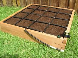 4x4 cypress raised garden bed kit with