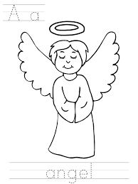 Small Picture Angel coloring pages a for angel ColoringStar