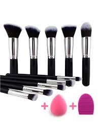 makeup brushes set makeup sponge brush egg black