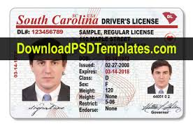 Us Drivers Carolina Psd License Template South