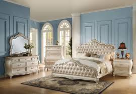 california king bed. ACME Chantelle California King Bed Rose Gold PU \u0026 Pearl White - 23534CK-Panel Beds U