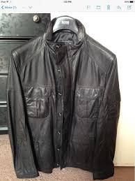 black nekuno hugo boss leather jacket