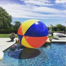 Beach ball on beach Ice Breaker In Real Life Bigmouth Inc Gigantic 10 Foot Inflatable Beach Ball Bigmouth Inc
