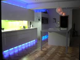 LED Under Kitchen Cabinet Lighting And 3 Globe Mesh Pendant Lamps Over  Built In Sink ...